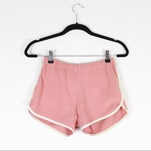 Retro Baby Pink Cotton Stretch Hot Pant Shorts